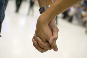 holding hands, accepting and supportive relationship